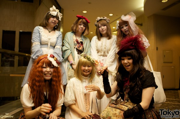Dolly Kei Girls at the Grimoire party in Tokyo.