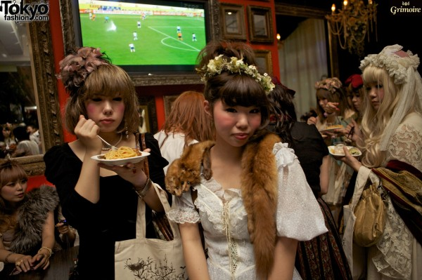 Food, fashion, and fun at the Grimoire party.