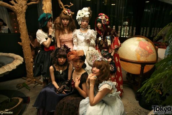 Kaori, Saki, Heri, and friends at the Grimoire party.