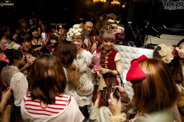 Hitomi, Kaori, and Naoaki at the Grimoire party.