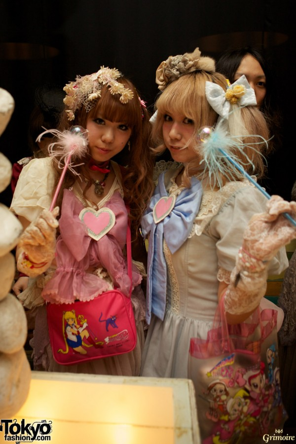 Super cute fashion at the Grimoire anniversary party.