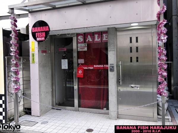 Banana Fish Harajuku Closed