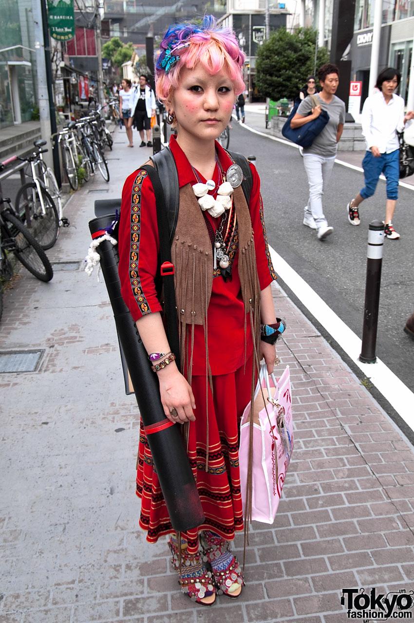 Cool Fashion & Hair in Harajuku