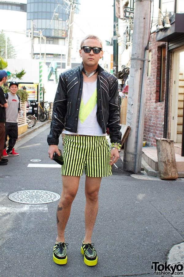 Japanese guy in Dog vintage & Jill Stuart leather