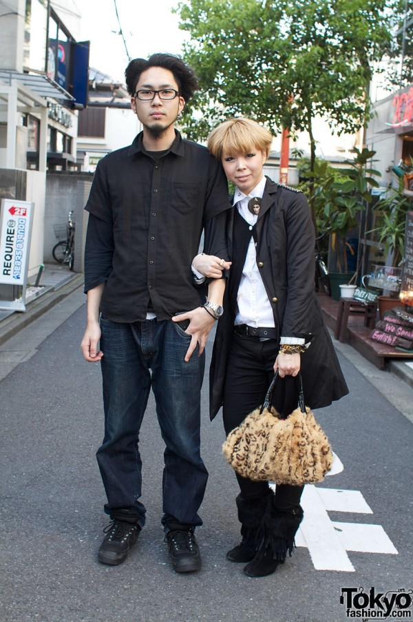 Blonde Girl with Fur Purse x Guy with Beard