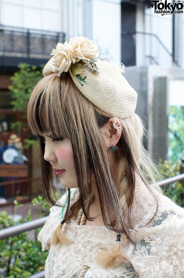 Vintage flowered hat