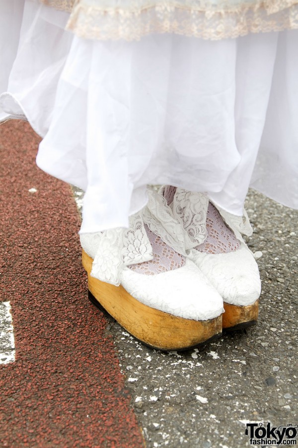 White lace clogs from Vivienne Westwood