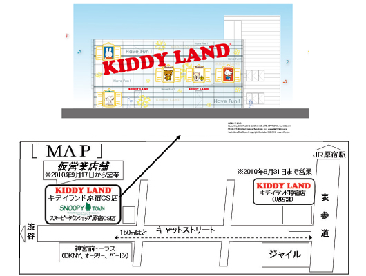 Kiddy Land Harajuku Address
