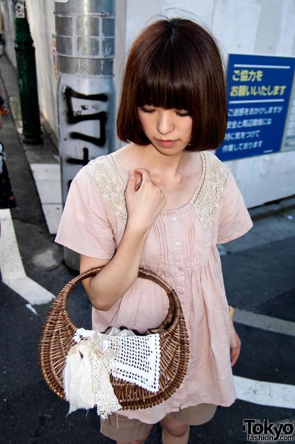 Straw Handbag in Tokyo