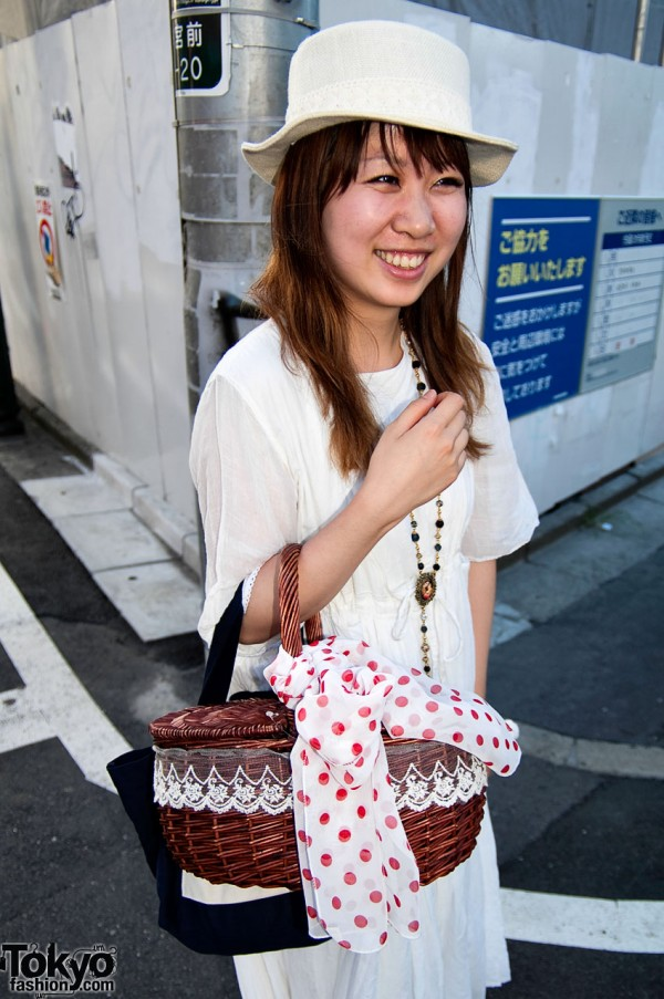 Straw Handbag in Japan