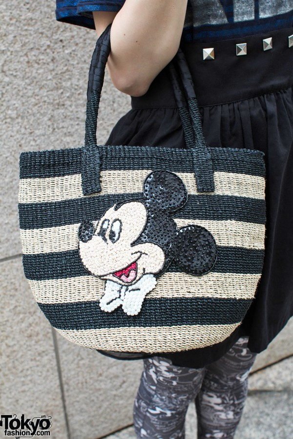 Mickey Mouse Straw Purse