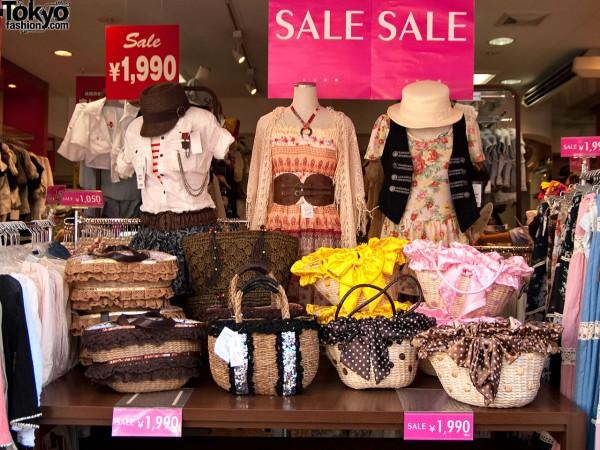 Straw Handbags on Sale in Tokyo