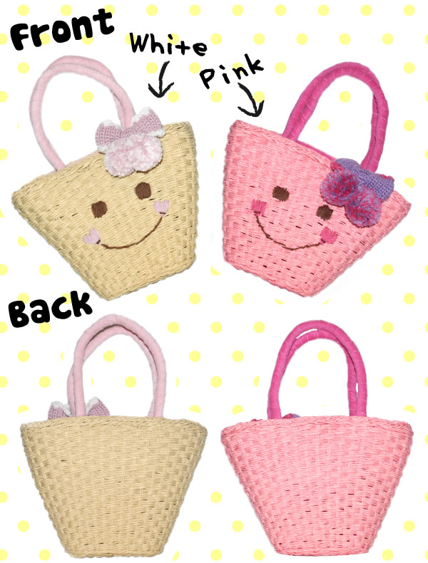 Happy Face Straw Handbags