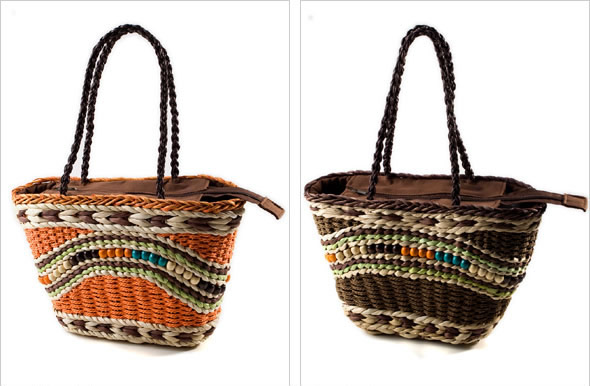 Ethnic Inspired Straw Handbags
