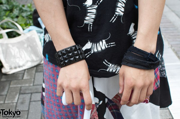 Number 9 studded wristband