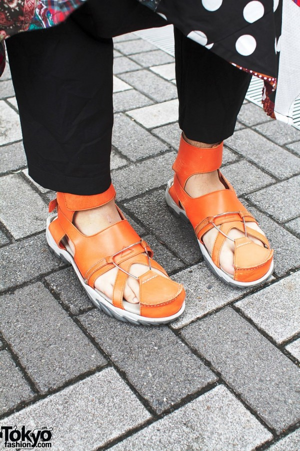 Undercover leather sandals