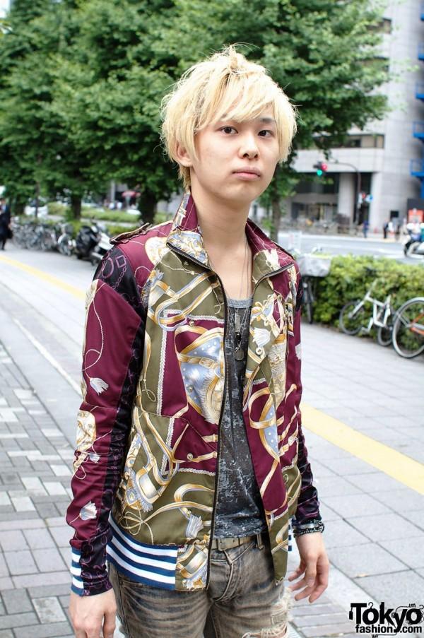 Blonde Japanese guy in Joyrich jacket