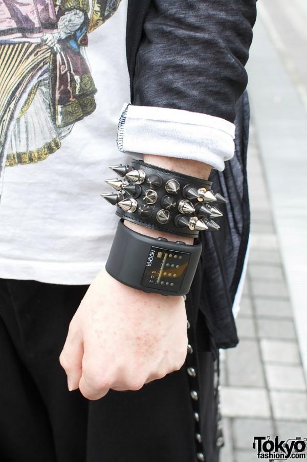 Limi Feu spike wristband and Nooka watch