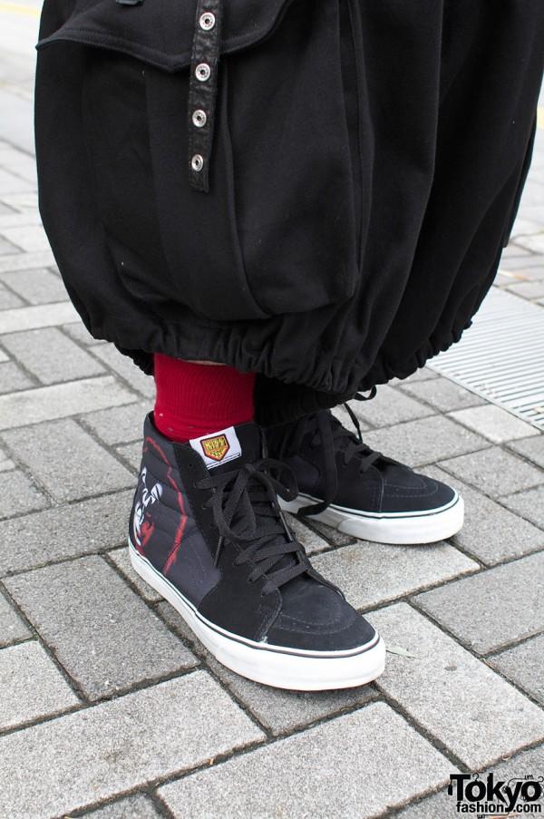 Baggy Limi Feu pants and Vans x Kiss shoes