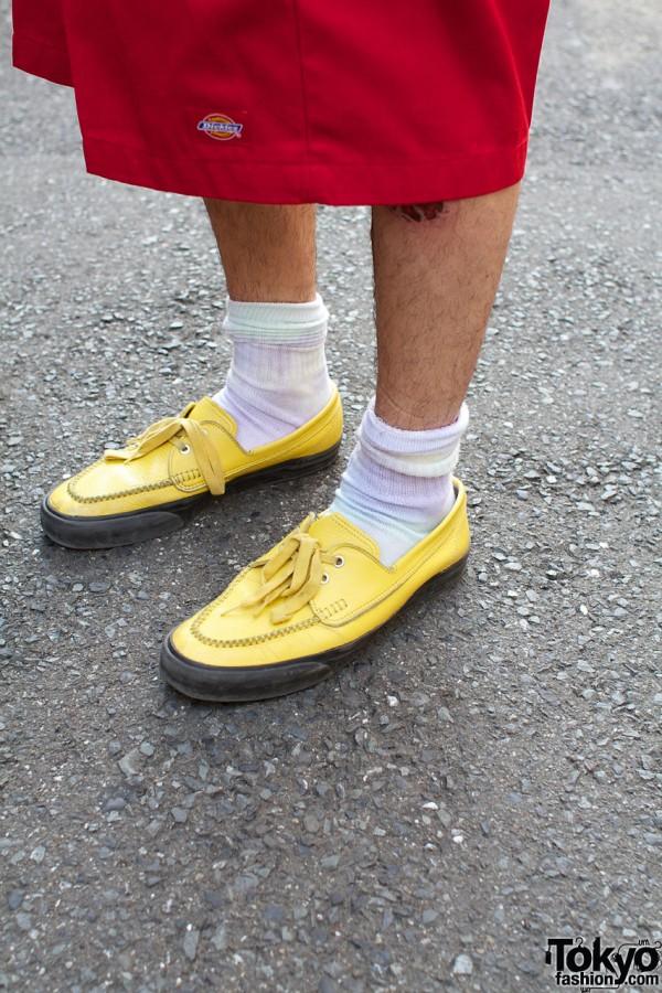 Yellow Comme des Garcons Shoes