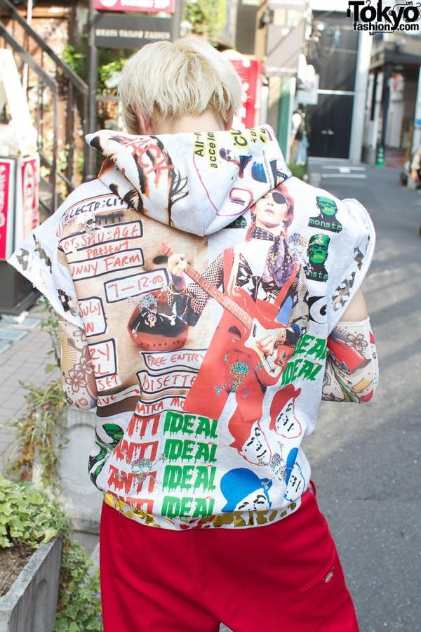 Awesome Print Hoodie in Harajuku