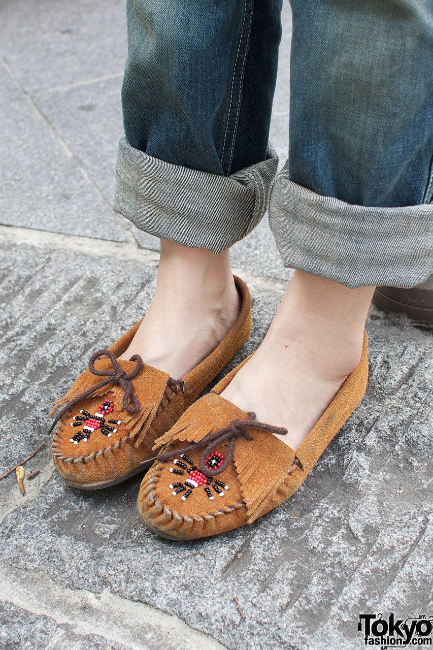 Wearing Moccasin Slippers As Shoes