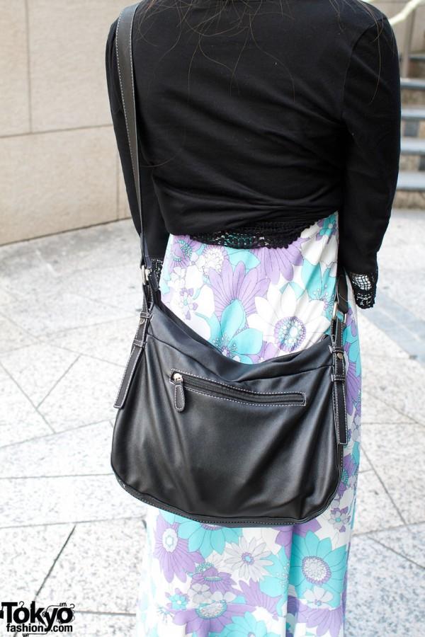 Large black zippered bag