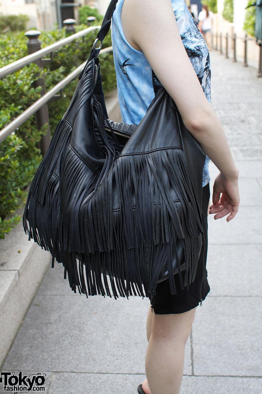 Large H&m Bag With Long Fringe