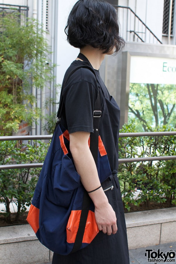 Blue and orange bag