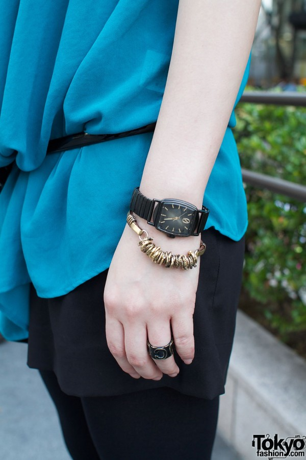 Zucca watch with gold bracelet