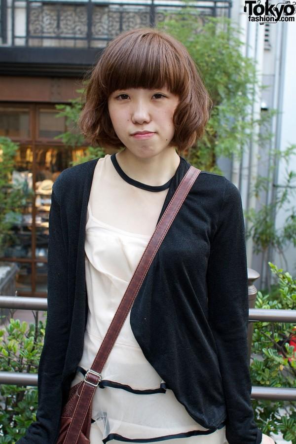 Anna Sui dress & black resale cardigan