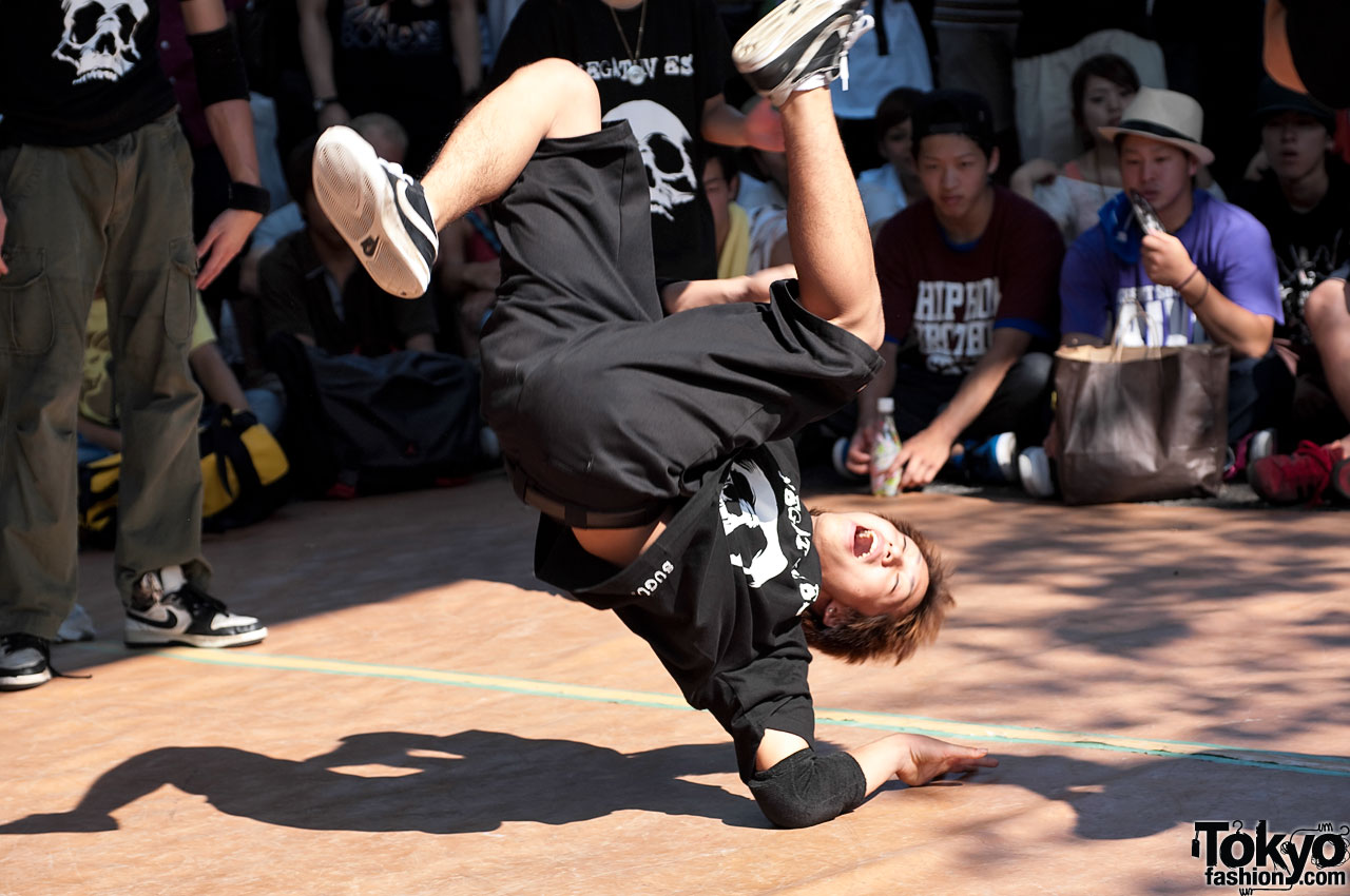 breakdancing styles A style of street dance that originated among black youths in new york city during the early 1970s the dance spread worldwide due to popularity in the media.