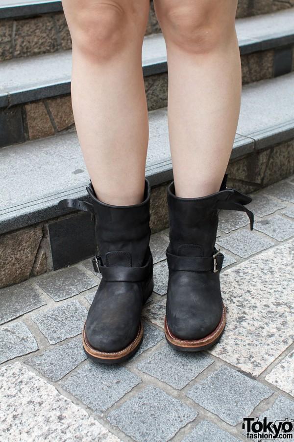 Black boots from Shibuya shop