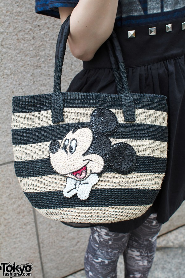 Beams Boy bag with Mickey Mouse logo