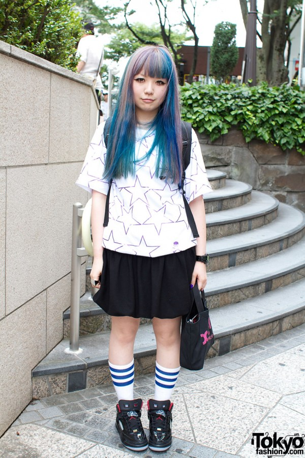 Blue-haired Bunka Fashion College Student
