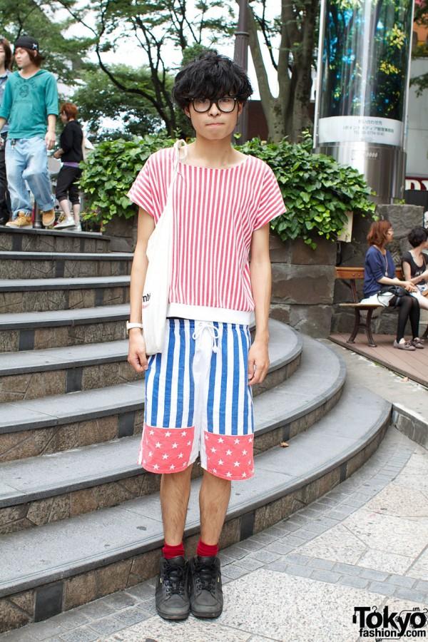 Glasses & Resale Stripes in Harajuku