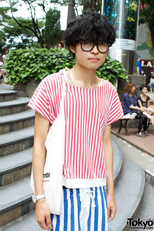 Glasses & striped top from Shonen Junk