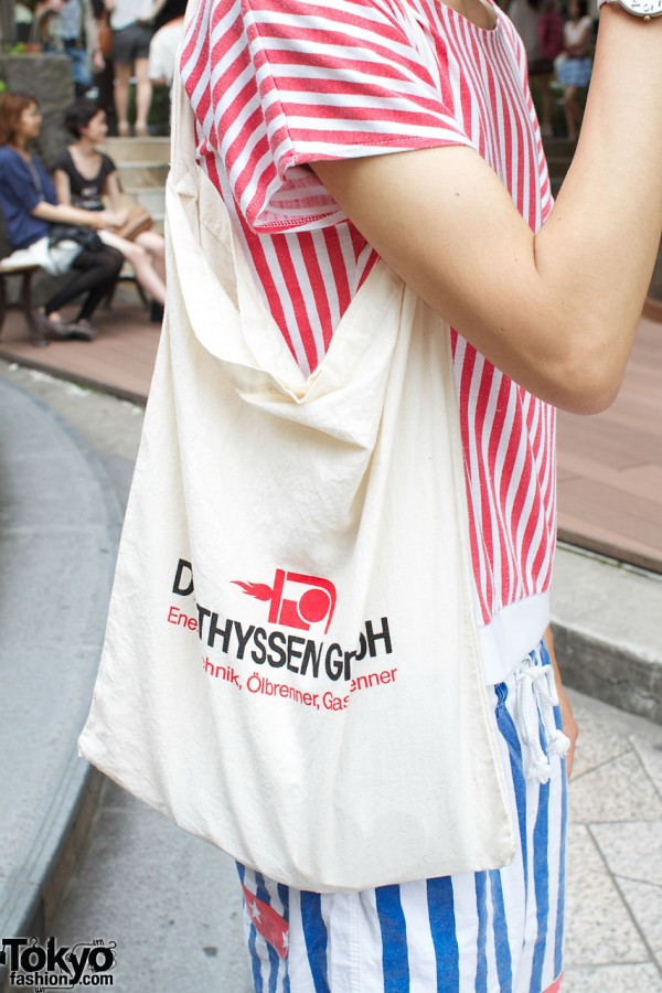 White bag from resale shop