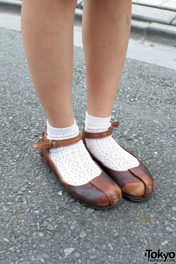 Dr. Martens Mary Janes & white ankle socks