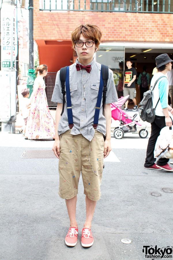 Cotton shirt & Tsumori Chisatoa shorts