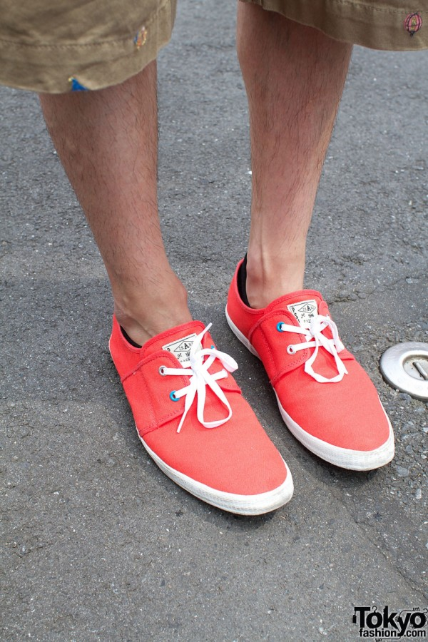 Red sneakers from Paul Smith