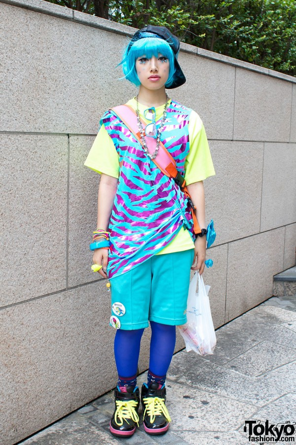 Blue Hair & Matching Galaxxxy Top