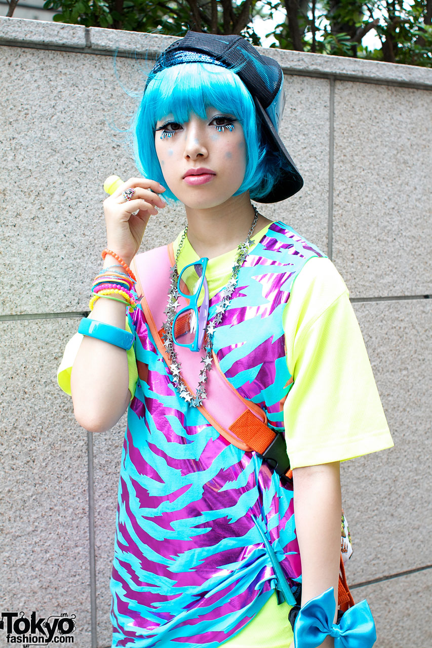 Blue Hair Amp Matching Galaxxxy Top