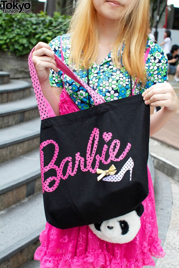 Barbie logo on bag