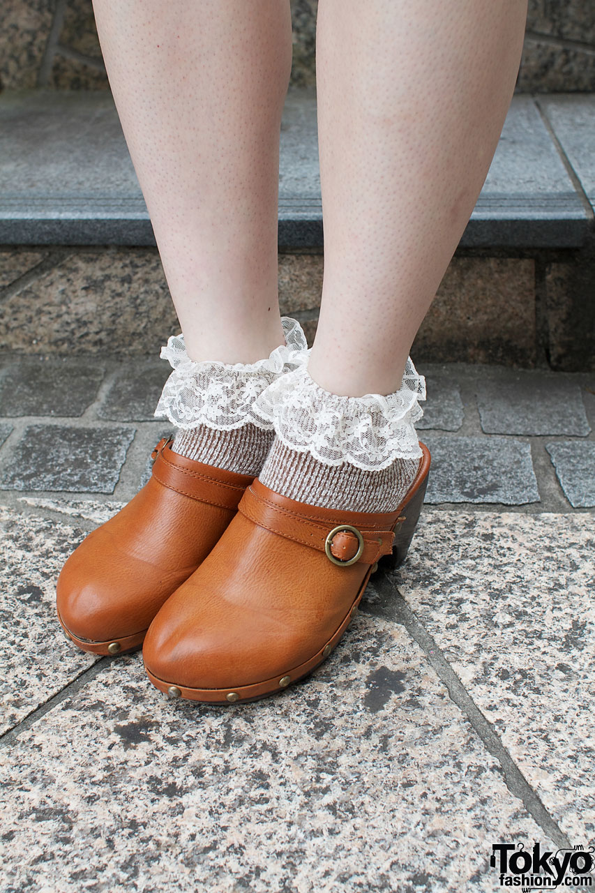 Flower Resale Dress Parco Clogs Amp Lacy Socks