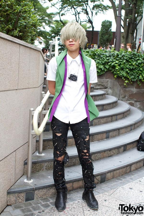 Junya Watanabe shirt & Dior boots