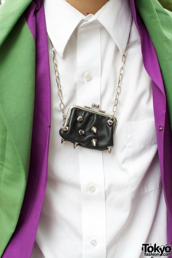 Spike coin purse on chain