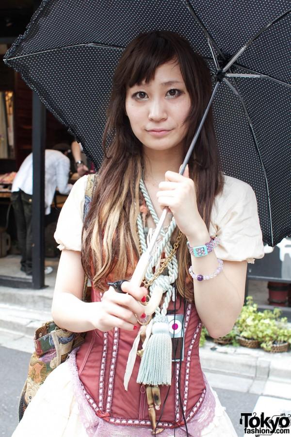 Grimoire corset & umbrella