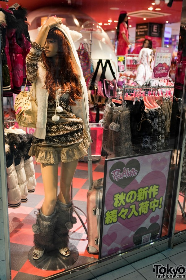 Fur Boots in Harajuku