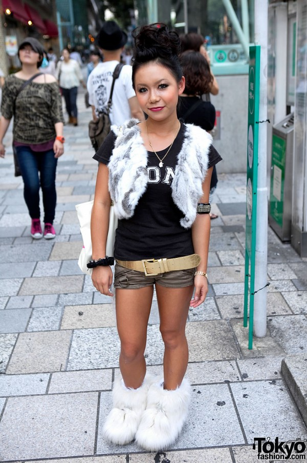 Tokyo Fur Boot Street Fashion